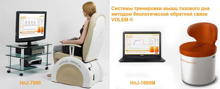 Системы тренировки мышц тазового дна методом биологической обратной связи VOLEM®, Ю.Корея